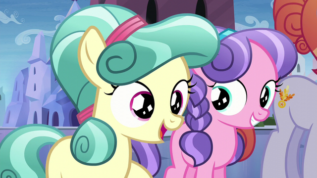 """File:Crystal Foal 2 """"tell the one about the Equestria Games!"""" S6E1.png"""