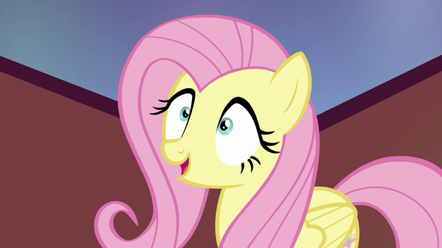 "File:Fluttershy mechanically ""they ran away"" S6E21.png"