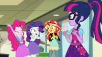 Pinkie Pie, Rarity, and Sunset excited EGS1