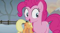 Pinkie Pie interrupts Applejack S5E20