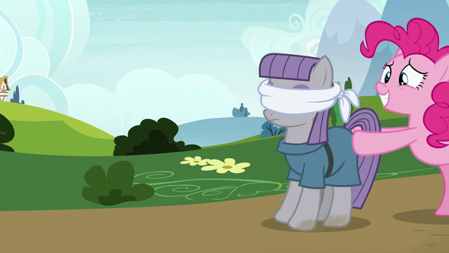 File:Pinkie Pie pushing a blindfolded Maud S7E4.png