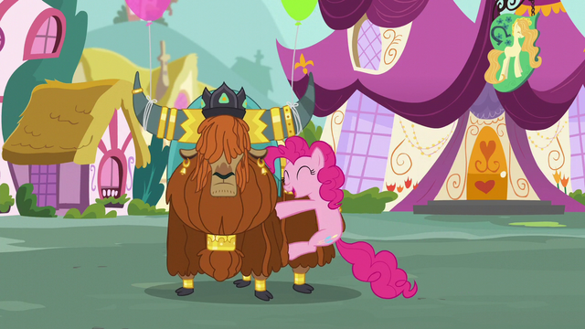 File:Pinkie hugs Rutherford S5E11.png
