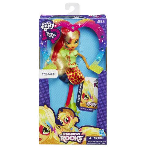 File:Applejack Equestria Girls Rainbow Rocks neon doll packaging.jpg