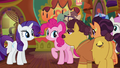 Coriander and Saffron thank Rarity and Pinkie again S6E12.png