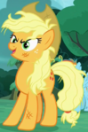Queen Chrysalis disguised as Applejack ID S5E26.png