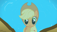Applejack's reflection in the pond S2E01