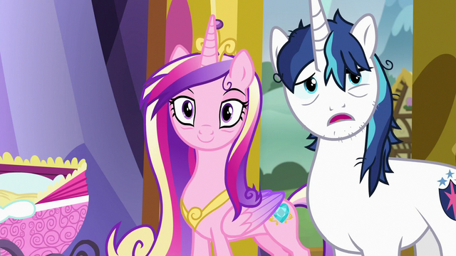 """File:Shining Armor """"you getting all this, Twily?"""" S7E3.png"""