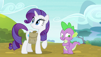 "Spike blushing ""thanks"" S4E23"