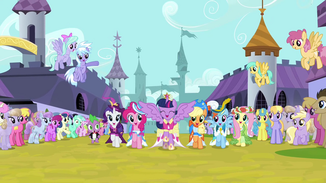 File:Twilight and friends singing and trotting S03E13.png
