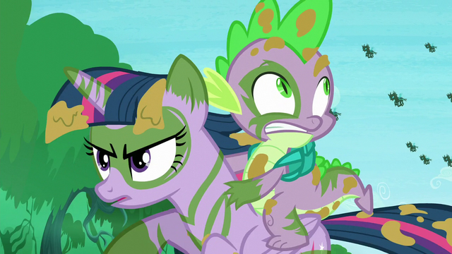 File:Twilight continues running; changelings chase her and Spike S5E26.png