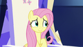 Fluttershy looks a little embarrassed S7E14.png