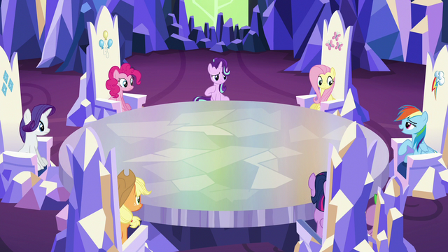 File:Starlight and ponies look toward Rainbow Dash S6E25.png