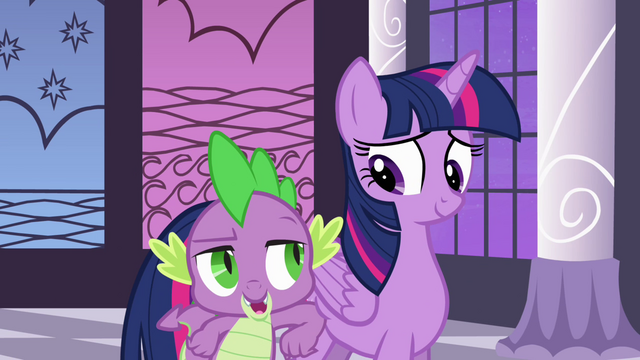 "File:Twilight and Spike ""way to take charge"" S4E01.png"