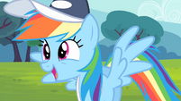 Rainbow Dash about to say 'Amazing!' S4E05