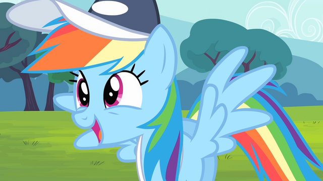 File:Rainbow Dash about to say 'Amazing!' S4E05.png