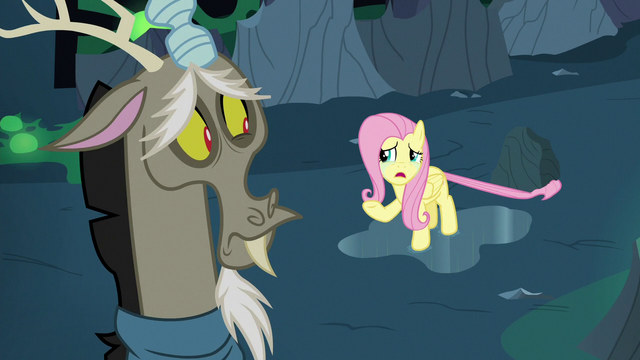 """File:Fluttershy Changeling """"we're probably all changelings"""" S6E26.png"""