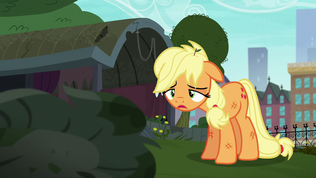 File:Applejack tired and downtrodden S5E16.png
