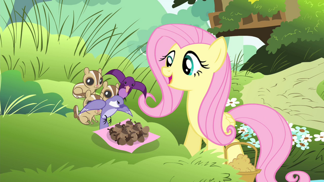 File:Fluttershy sees birds dropping acorns S4E14.png