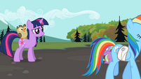 Twilight Rainbow Dash being Rainbow Dash S2E7