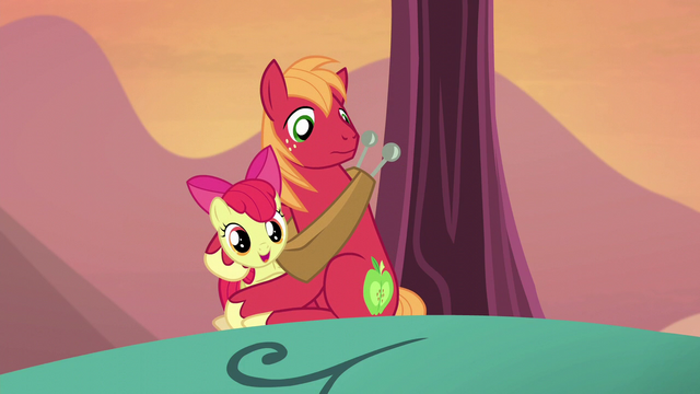 """File:Apple Bloom """"be there in a bit!"""" S5E17.png"""