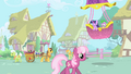 Twilight Sparkle and Spike landing in Ponyville S1 Opening.png