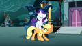 Filly Rarity on Applejack S3E5.png
