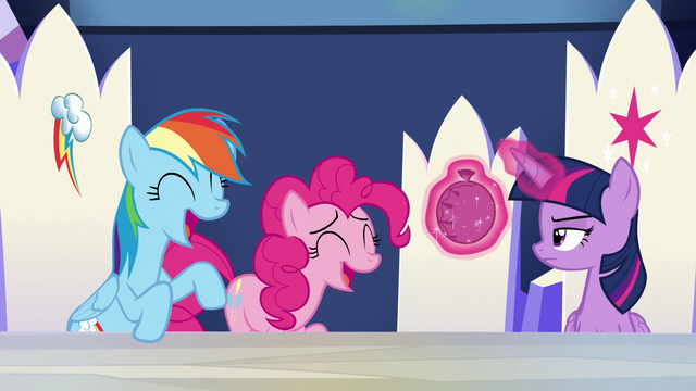 File:Rainbow and Pinkie Pie laughing loudly S6E15.png