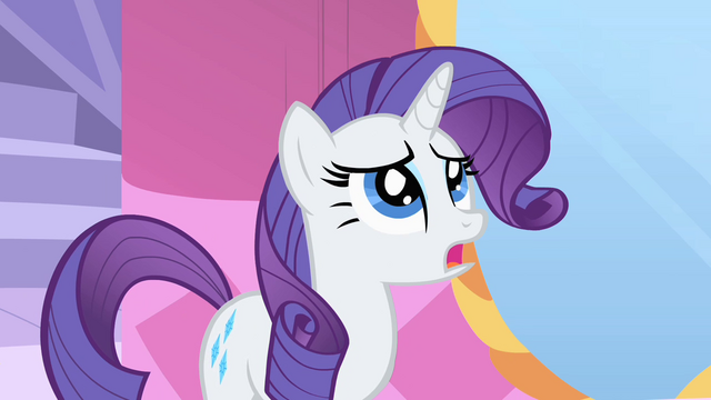 File:Rarity displeased with Fluttershy's dress S1E20.png