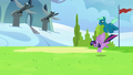 Twilight and Sky land in an academy field S6E24.png