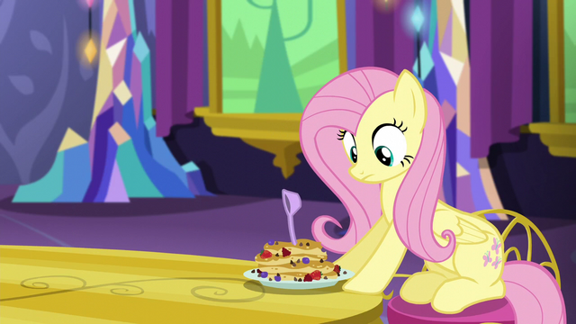 File:Measuring spoon lands in Fluttershy's pancakes S5E3.png