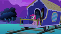 Pinkie Pie at the end of the train S2E24.png