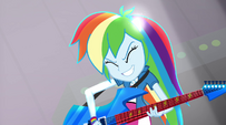 Rainbow Dash's pony ears appearing EG2