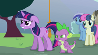 Twilight Sparkle and Spike mad at Trixie S3E5