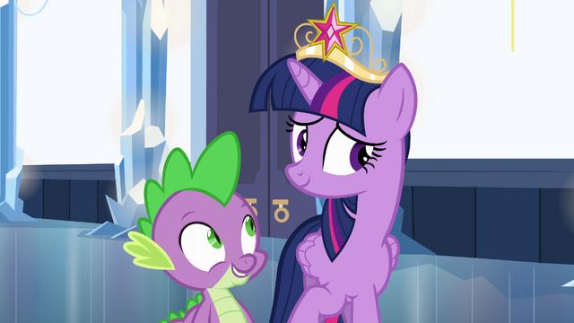 File:Bashful Twilight and Spike EG.png