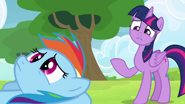 File:Twilight considering Rainbow's friends S4E10.png