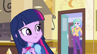 Twilight leaving Celestia's office EG