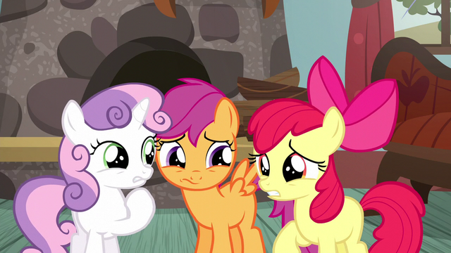 File:Cutie Mark Crusaders caught in a lie S5E6.png