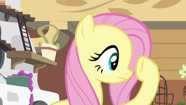 File:Fluttershy checking under her hoof S4E16.png