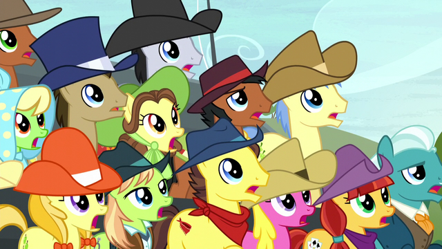 File:Spectator ponies surprised S5E6.png