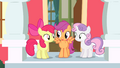 Cutie Mark Crusaders decide to come up with a routine S4E05.png