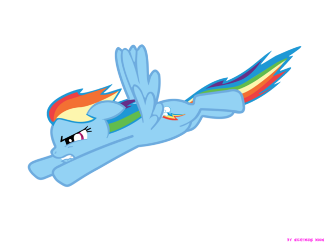 File:FANMADE Rainbow Dash Flying downwards.png