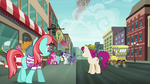 File:Manehattanites see Pinkie fire her party cannon S6E3.png