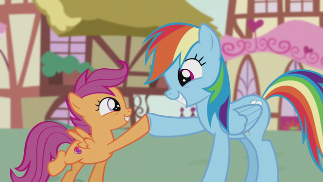 File:Rainbow Dash and Scootaloo hoof-bump S5E18.png