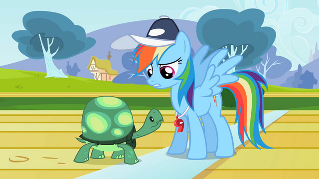 File:Rainbow Dash and Tank S2E7.png