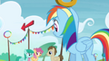Rainbow looking at the other ponies S4E10.png