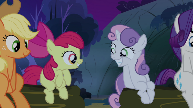 File:Sweetie Belle and Apple Bloom smiling at each other S3E06.png