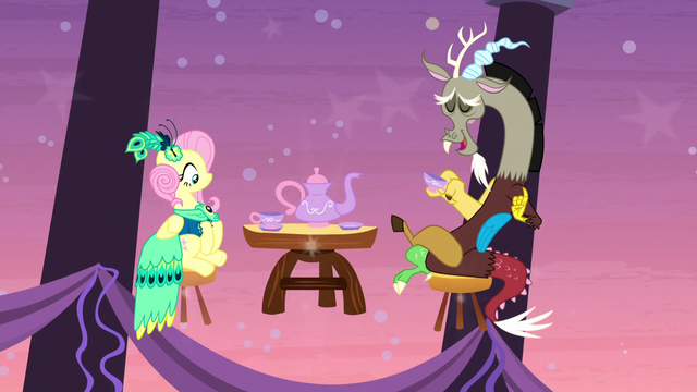File:Discord and Fluttershy having midair tea S5E7.png