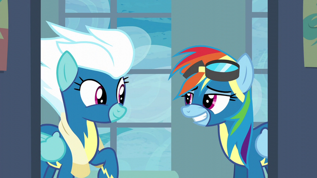 File:Rainbow Dash gives Fleetfoot a grin S6E7.png