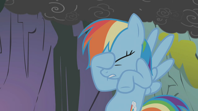 File:Rainbow Dash places her hoof on her face S1E07.png