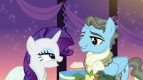 "Rarity ""A gentlepony with fabulous taste in colognes and scarves?"" S5E15"